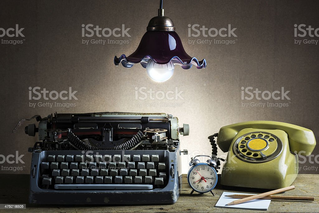 Still life  retro office stock photo