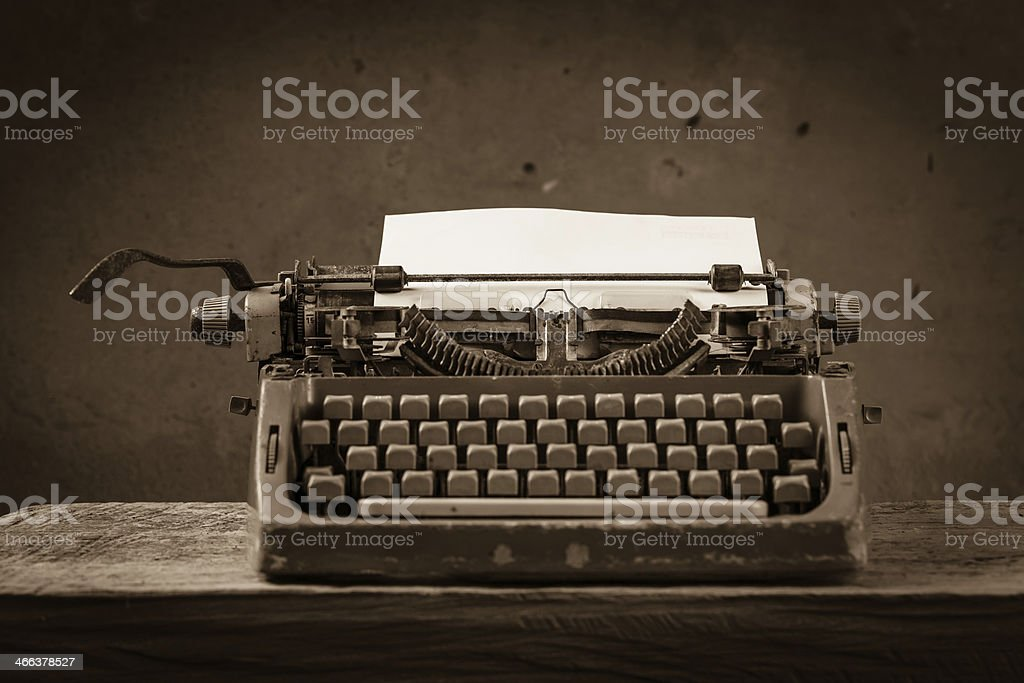 Still life type writer stock photo