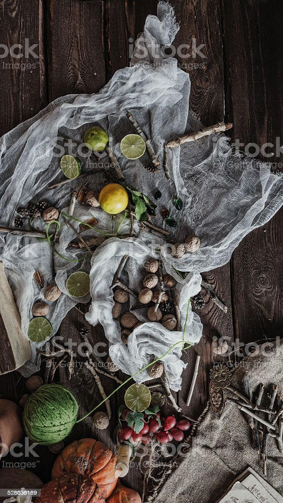 Still life witch stock photo