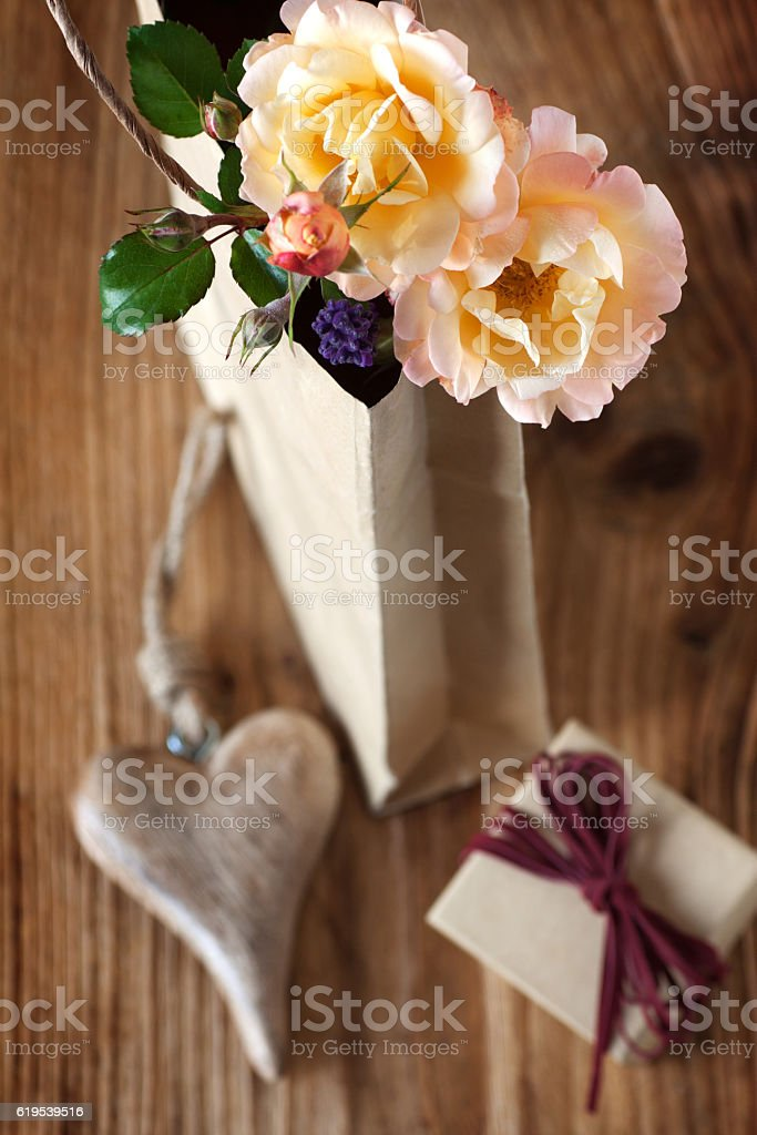 Still life with a cordially gift stock photo