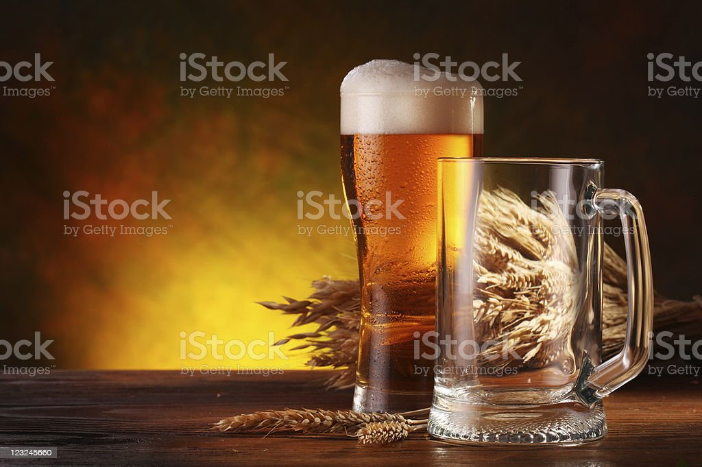 Still Life with a draft beer stock photo