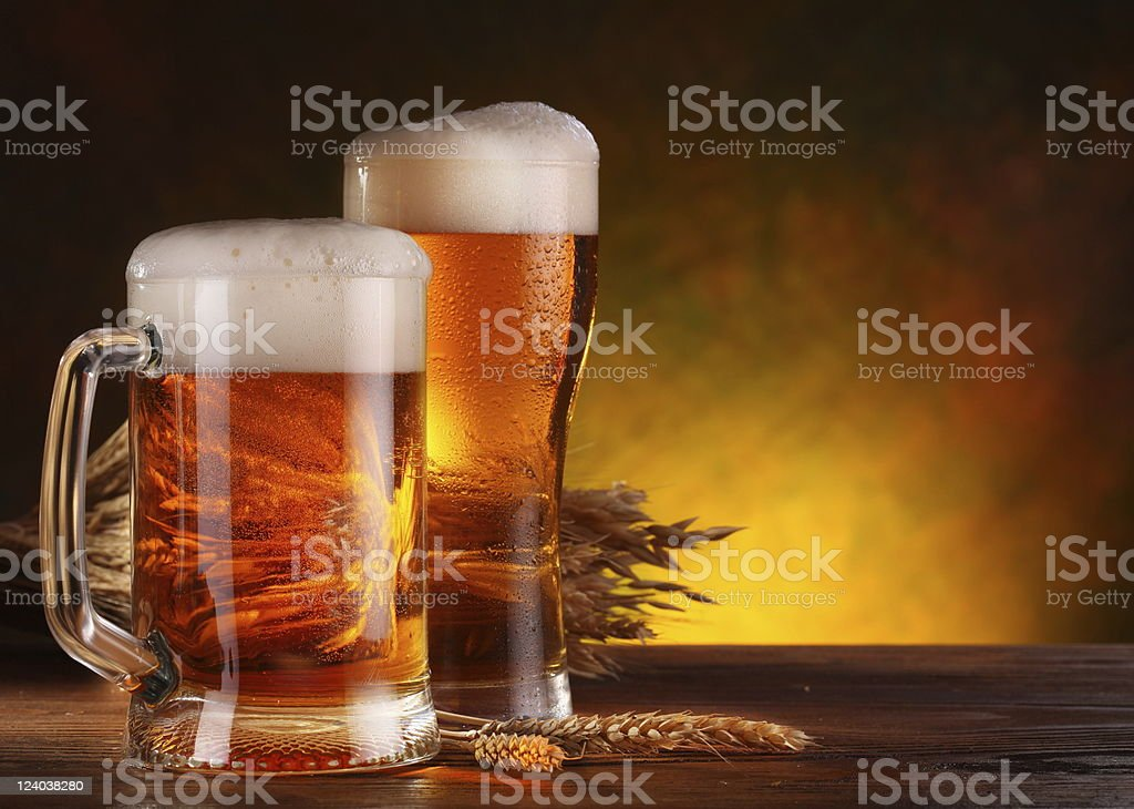Still Life with a draft beer royalty-free stock photo
