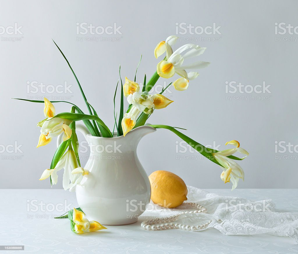 Still life with beautiful flowers royalty-free stock photo