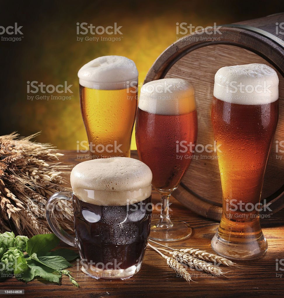 Still Life with beer glasses. royalty-free stock photo