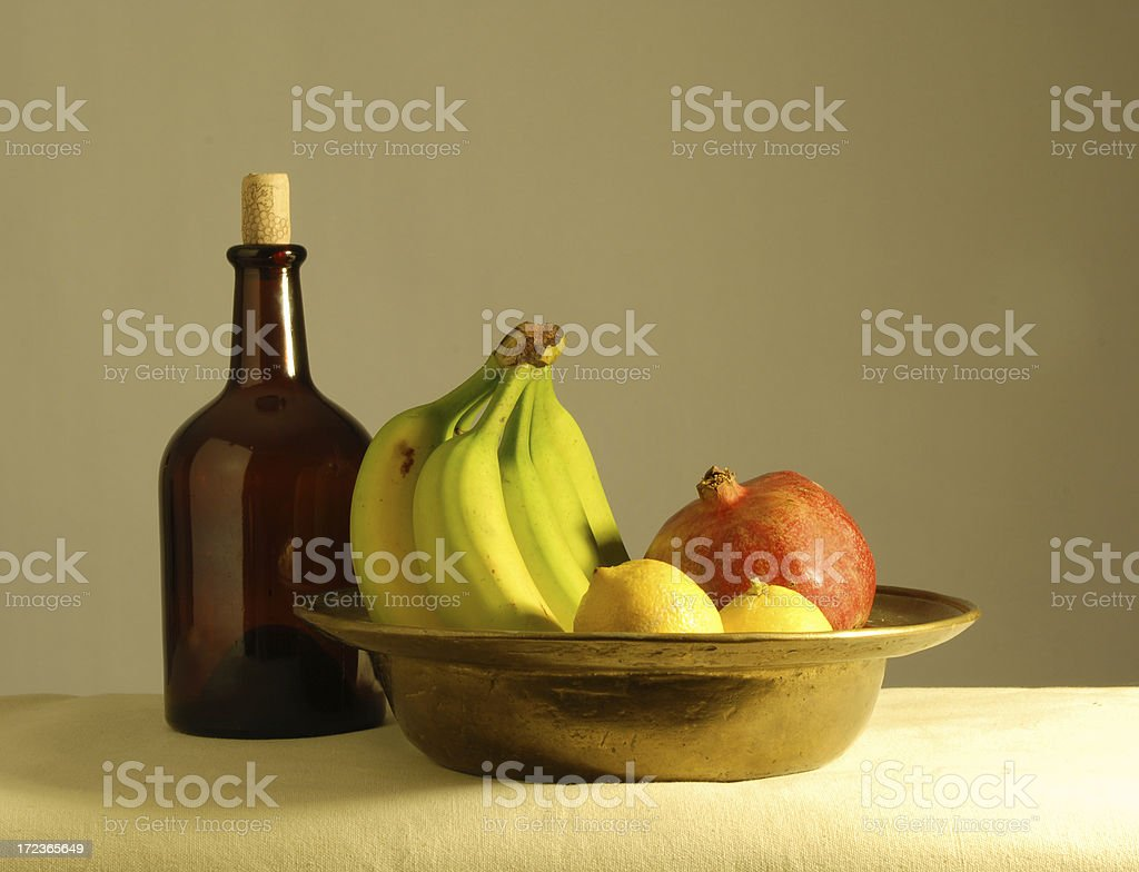 still life with  bottle royalty-free stock photo