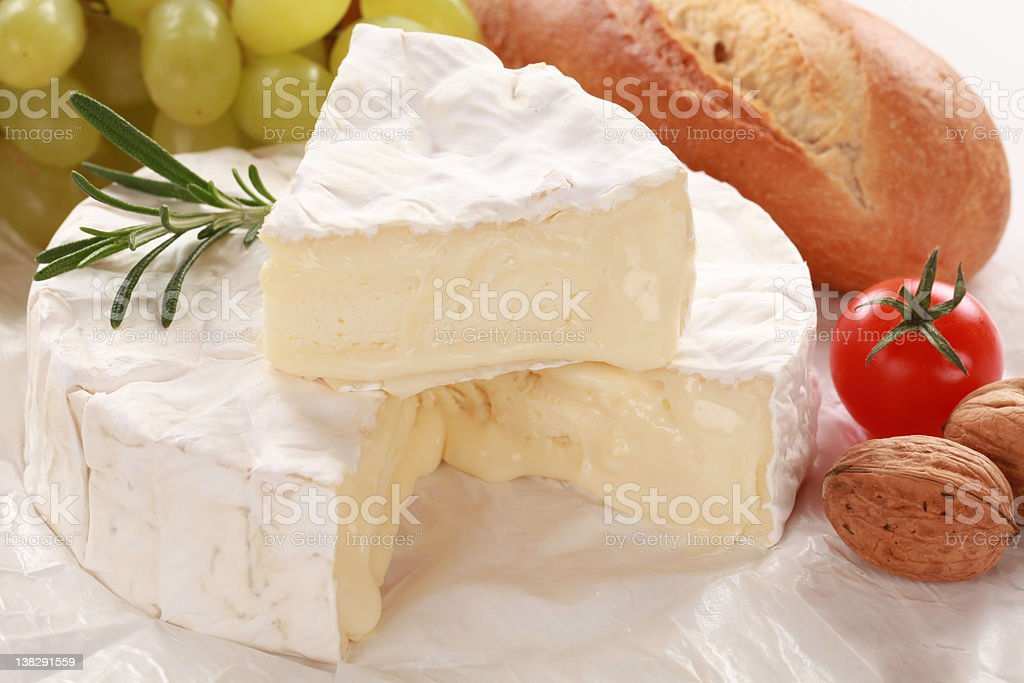 Still life with Camembert cheese stock photo