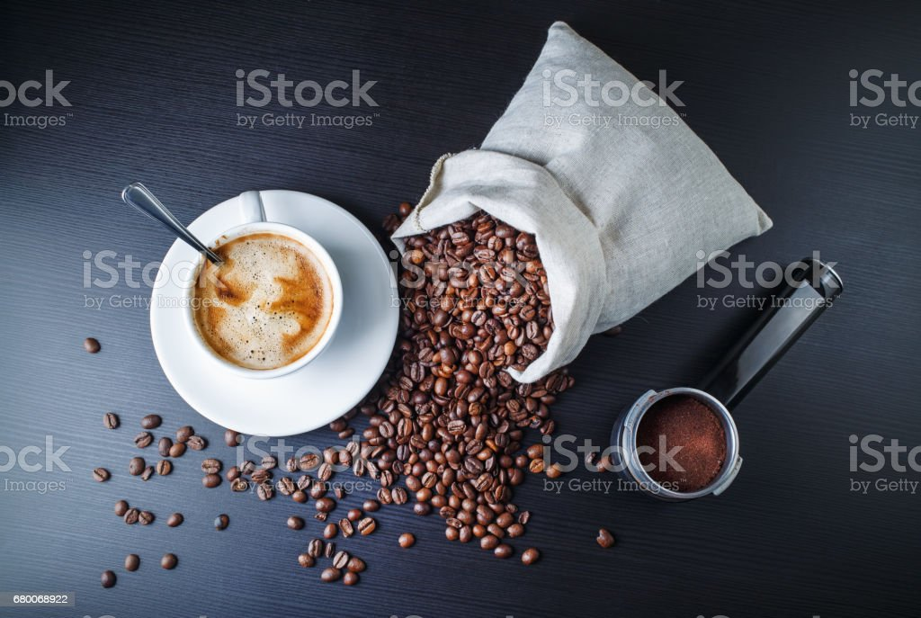 Still life with coffee stock photo