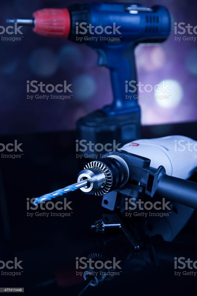 Still life with constructor tools stock photo