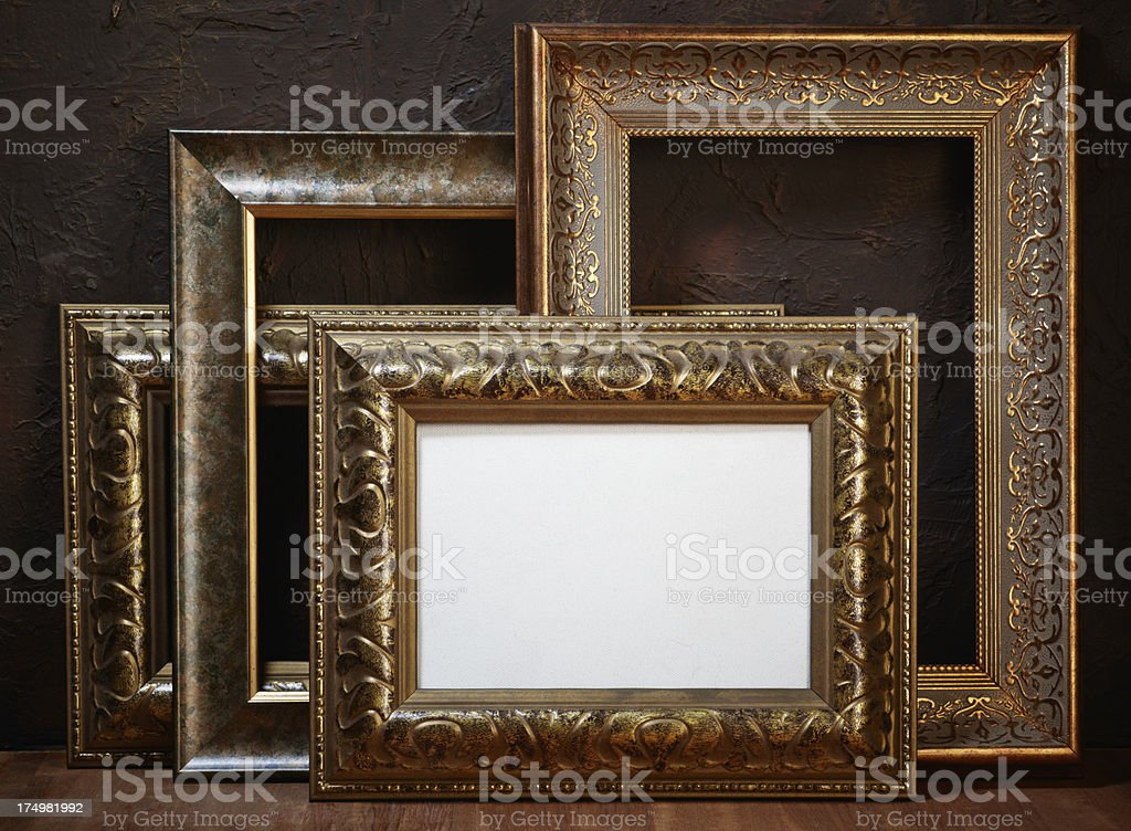 Still life with empty frames for pictures. royalty-free stock photo