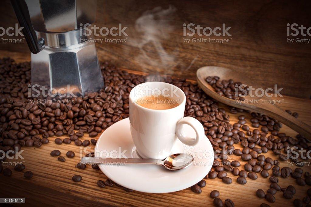 Still life with espresso stock photo