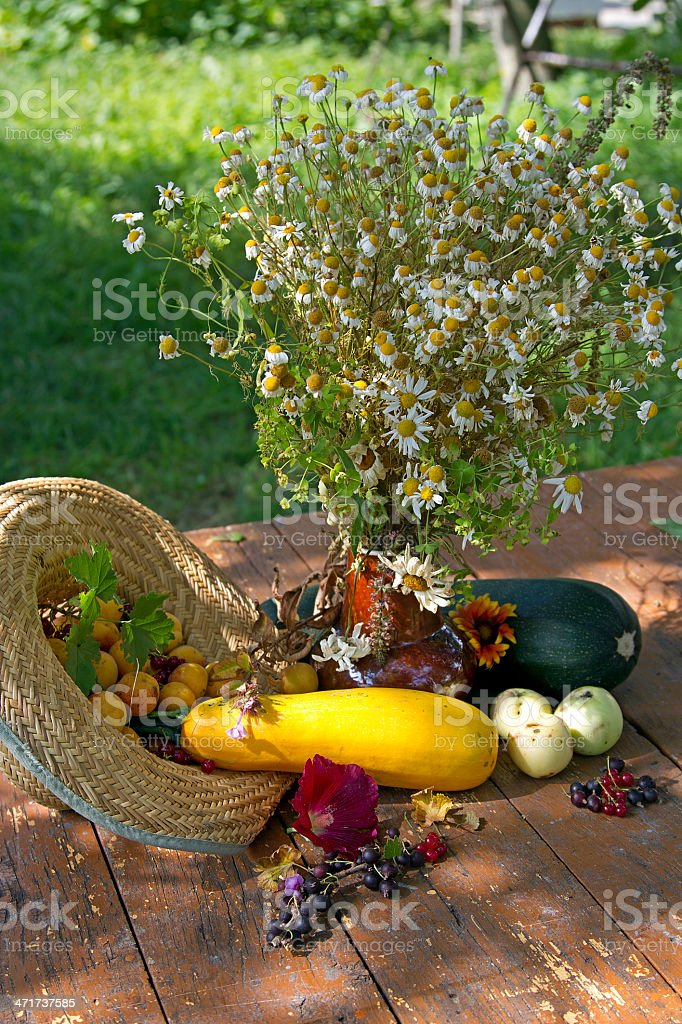 still life with Fruits And Vegetables royalty-free stock photo
