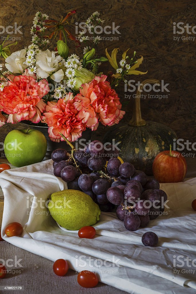 Still life with Fruits. stock photo