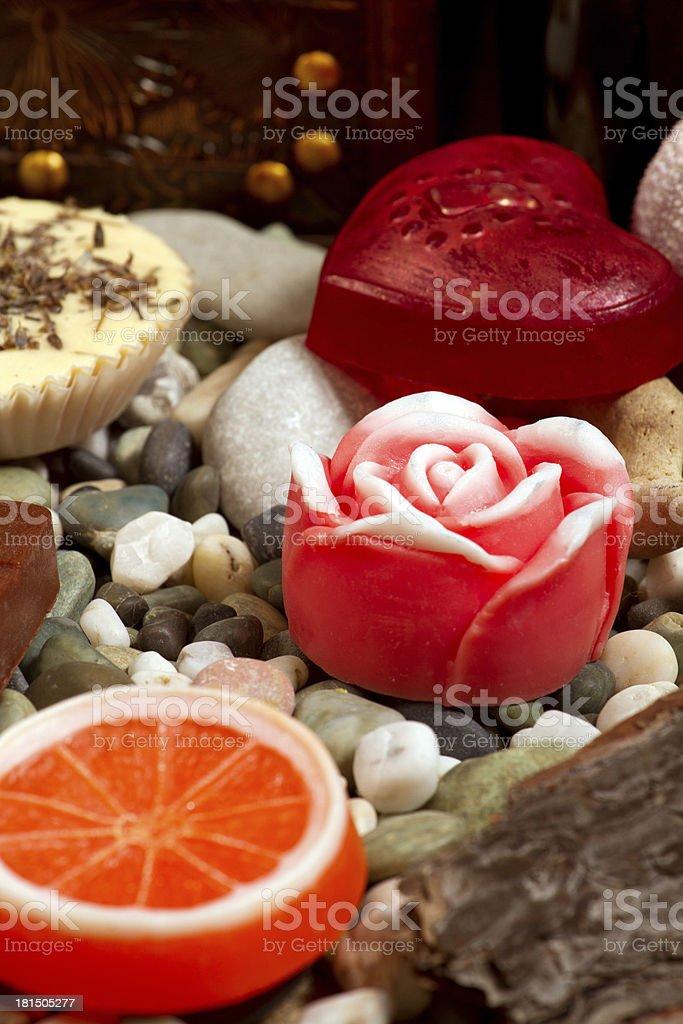 Still Life With Handmade Soap royalty-free stock photo
