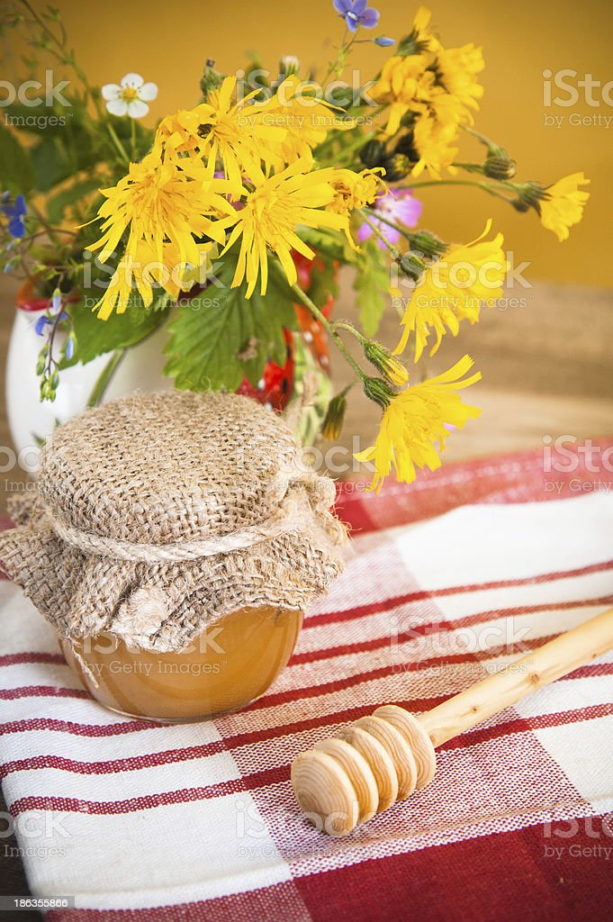 Still life with honeycombs royalty-free stock photo