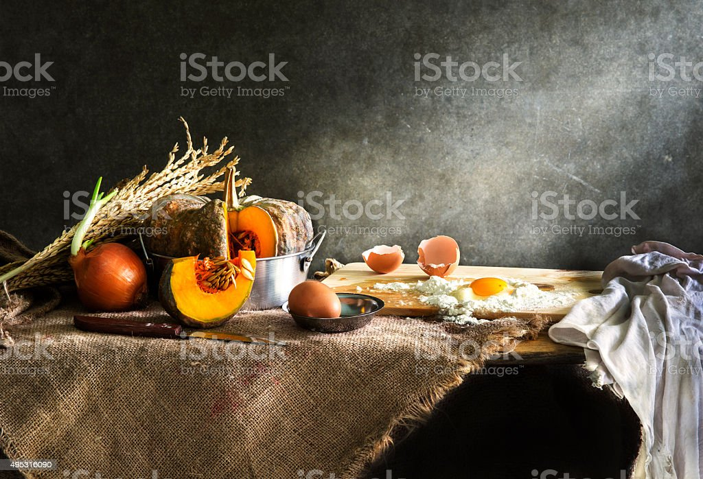Still life with kitchen stock photo