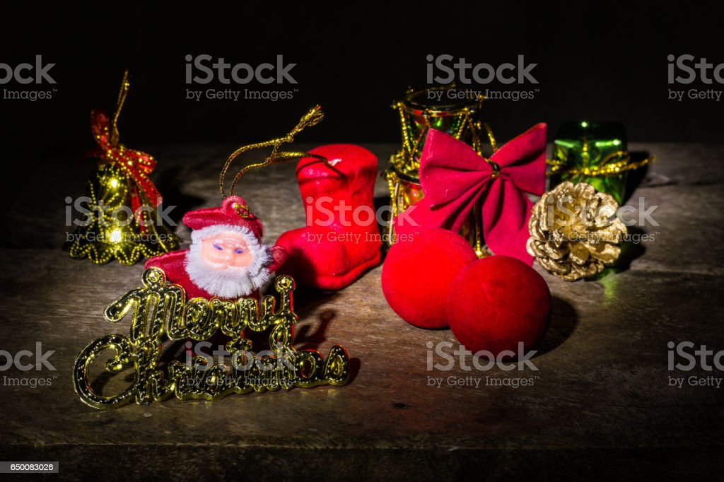 Still life with Merry christmas stock photo