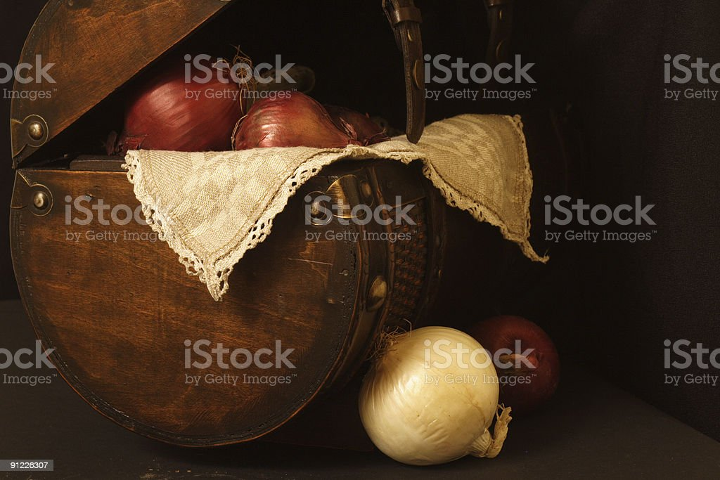 Still life with onions royalty-free stock photo