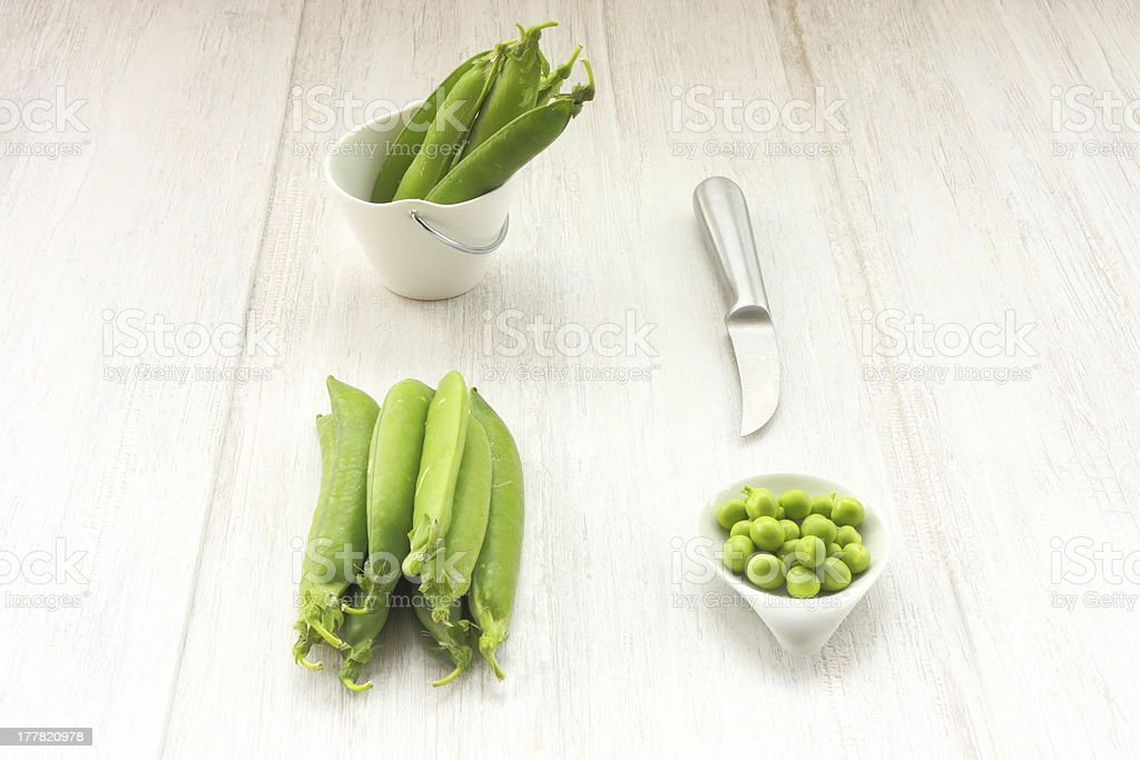 Still life with peas royalty-free stock photo