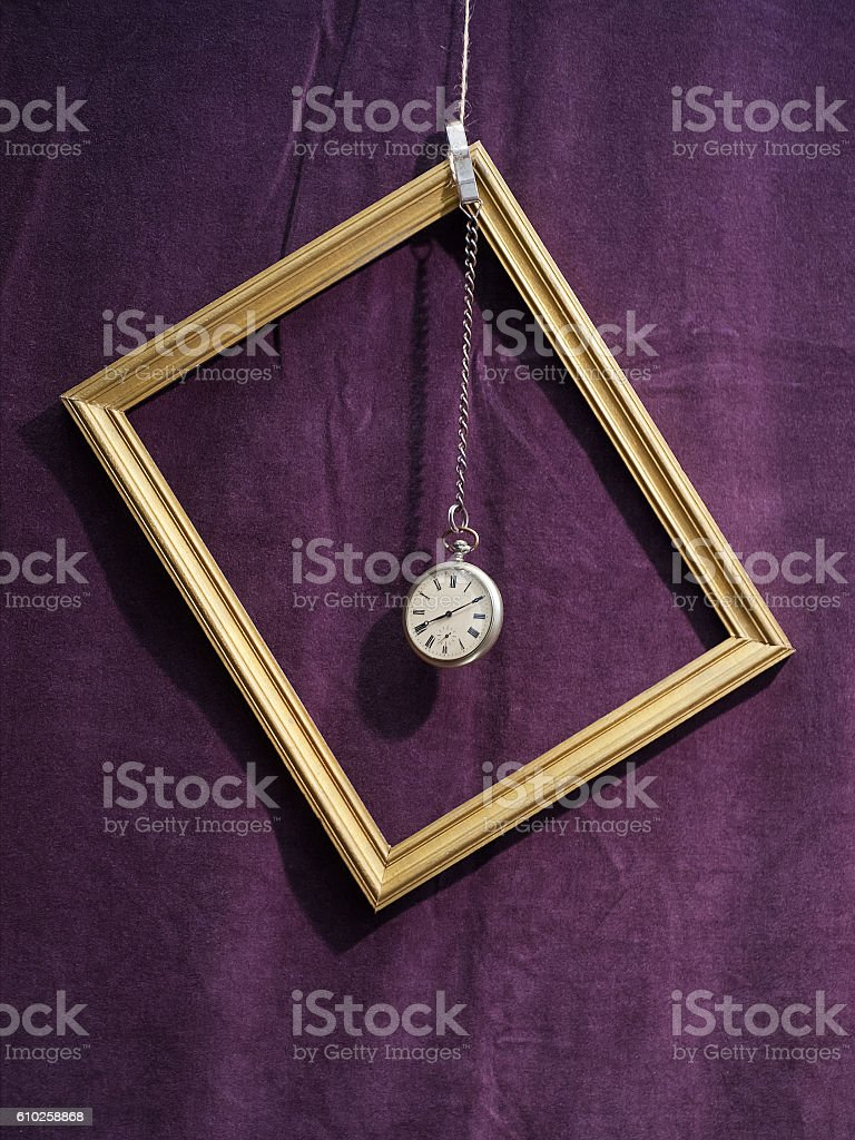 Still life with pocket watch stock photo