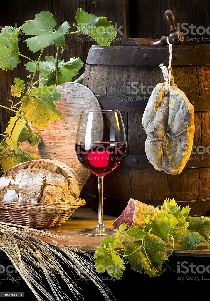 still life with red wine royalty-free stock photo