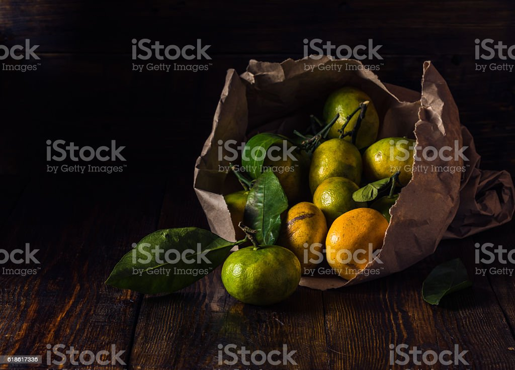 Still Life with Tangerines stock photo