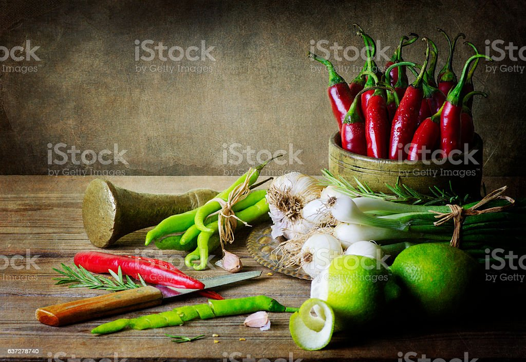 Still Life With Vegetables.. stock photo