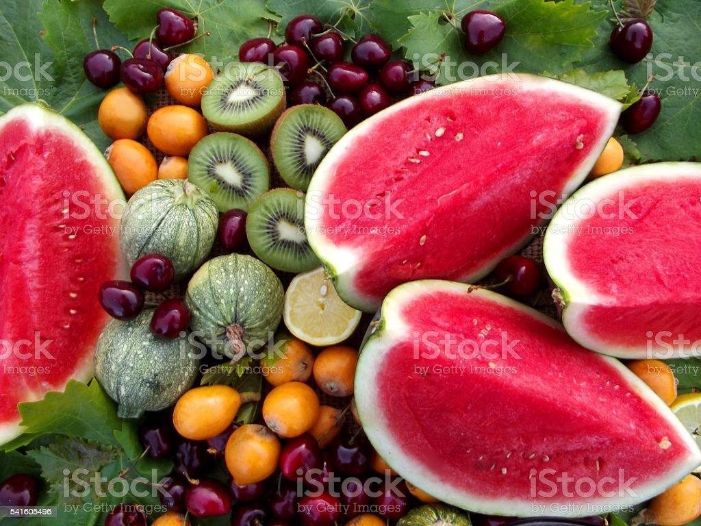 still life with watermelon stock photo