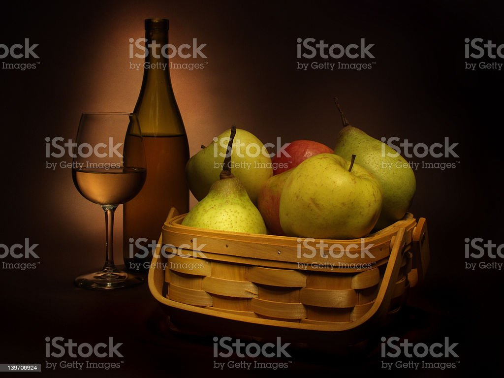 Still Life With Wine and Fruits (2) royalty-free stock photo
