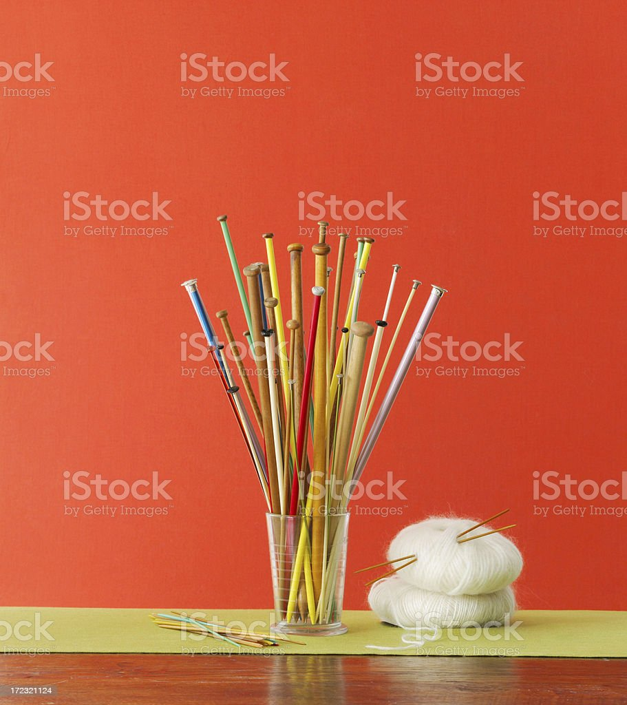 Still Life-Knitting Needles stock photo