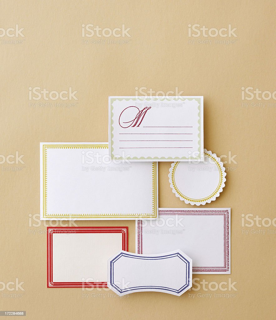 Still Life-Labels royalty-free stock photo
