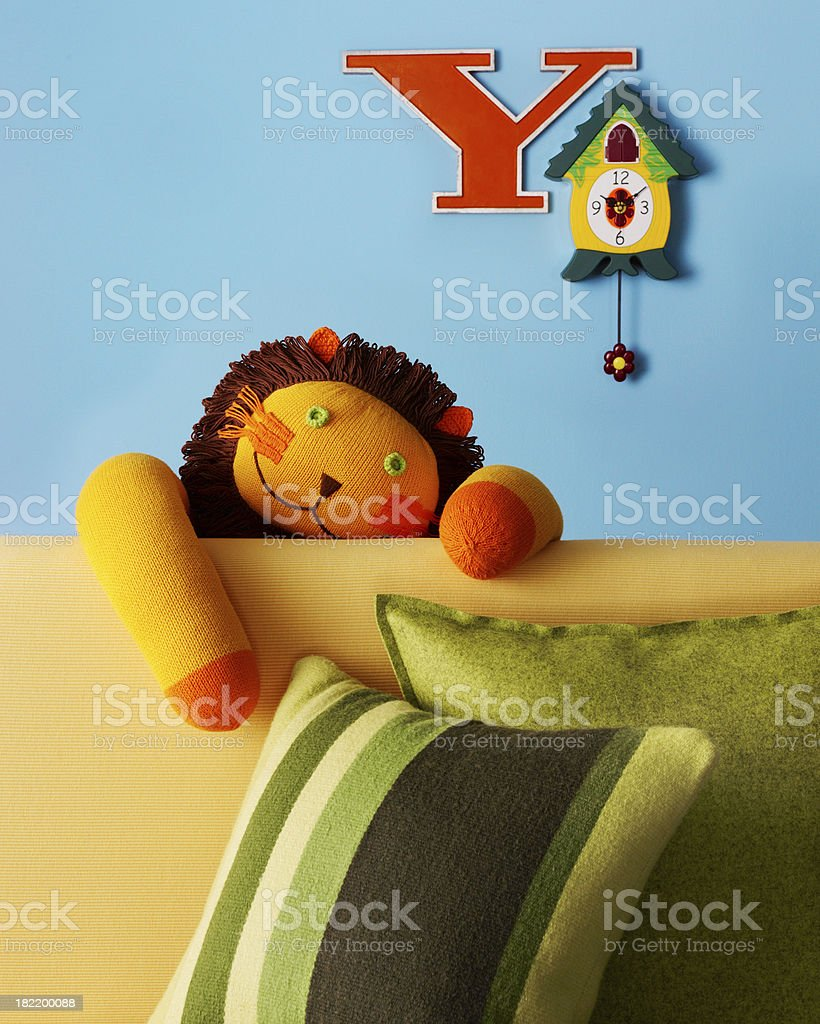 Still Life-Lion Doll royalty-free stock photo