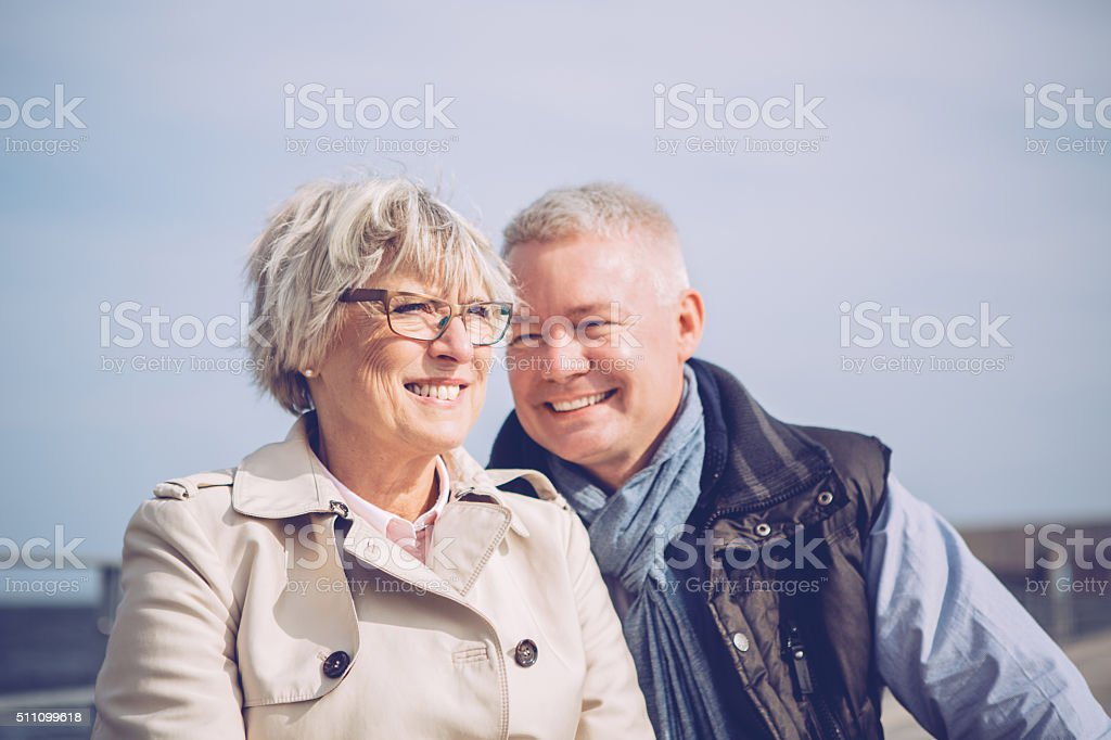 Still loving after all these years... stock photo