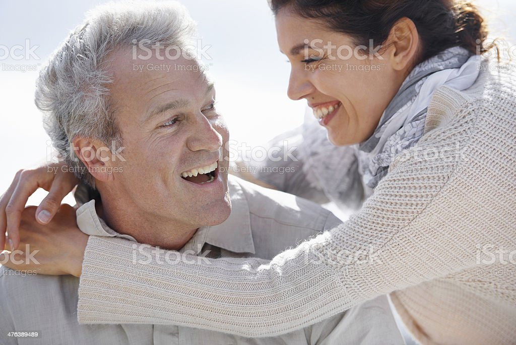 Still loving and laughing royalty-free stock photo