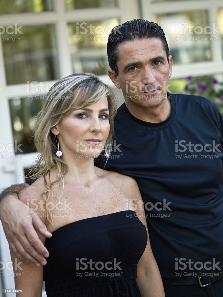 Still Married at their forties royalty-free stock photo