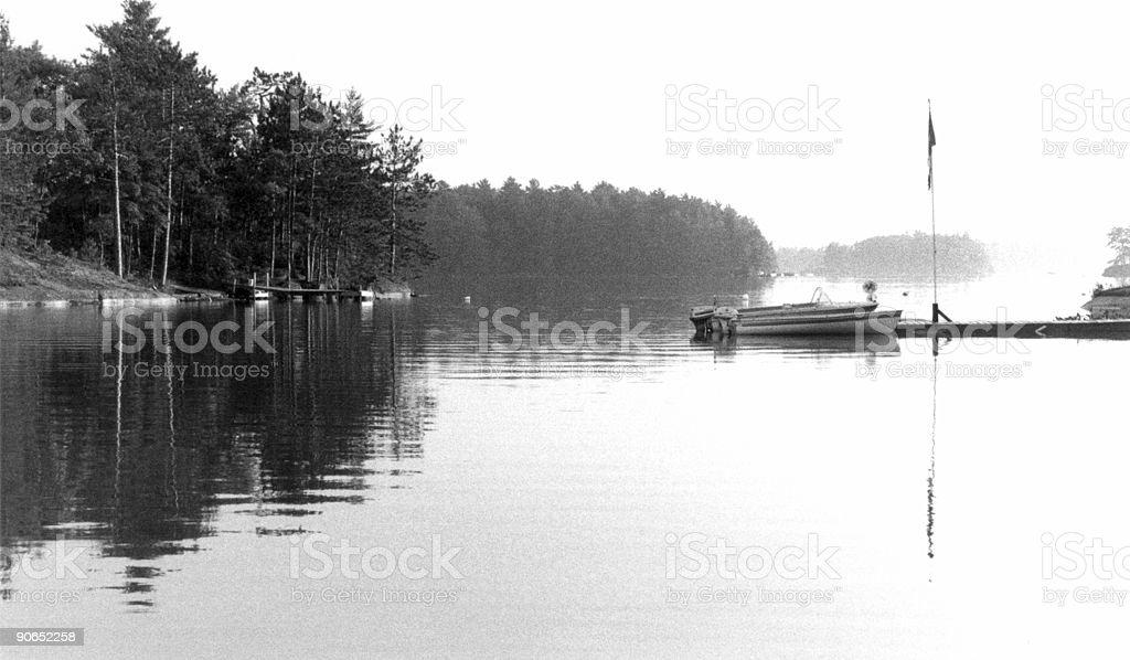 Still Morning Mist stock photo