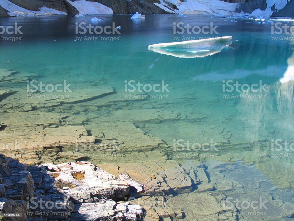 Still Morning on Iceberg Lake royalty-free stock photo