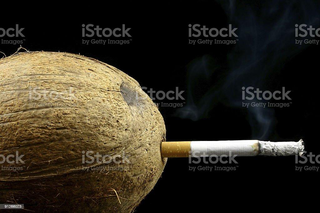 Still smokin' royalty-free stock photo