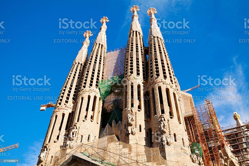 Still under construction: Sagrada Familia royalty-free stock photo