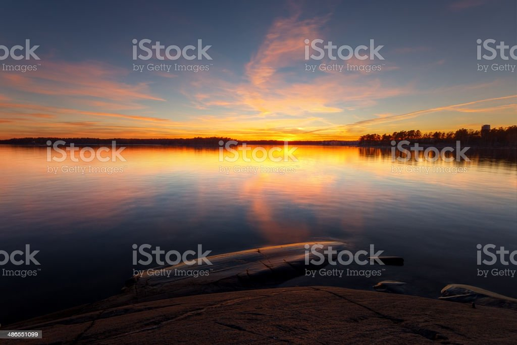 Still water seascape royalty-free stock photo