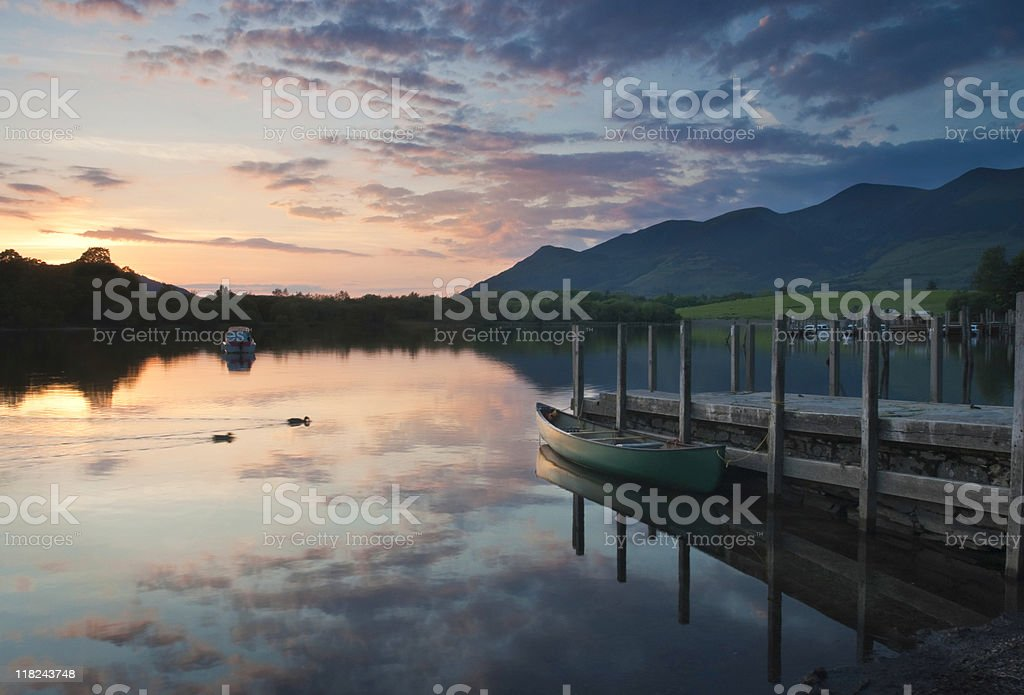 Still Waters Dramatic Sky stock photo