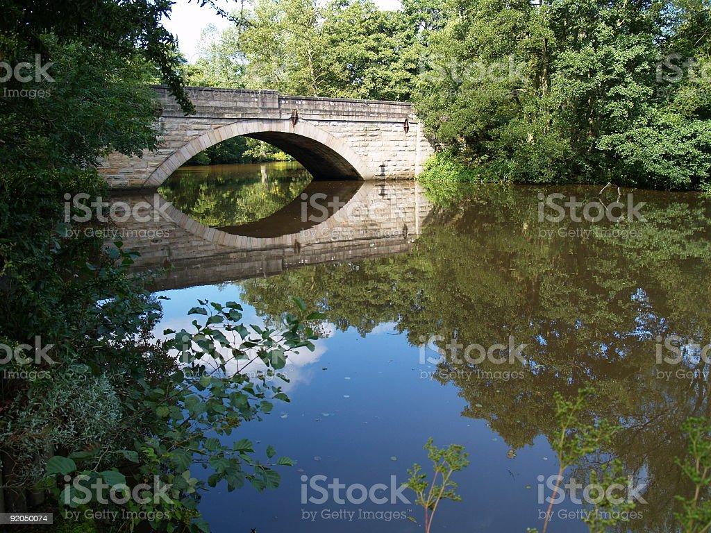Still waters run deep stock photo