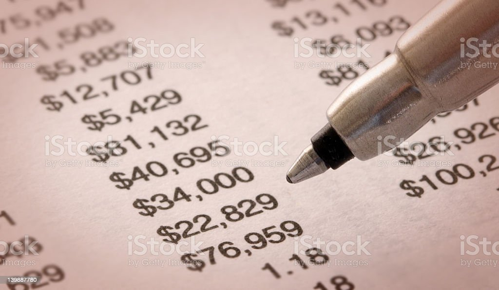Still-life of Financial Statement royalty-free stock photo