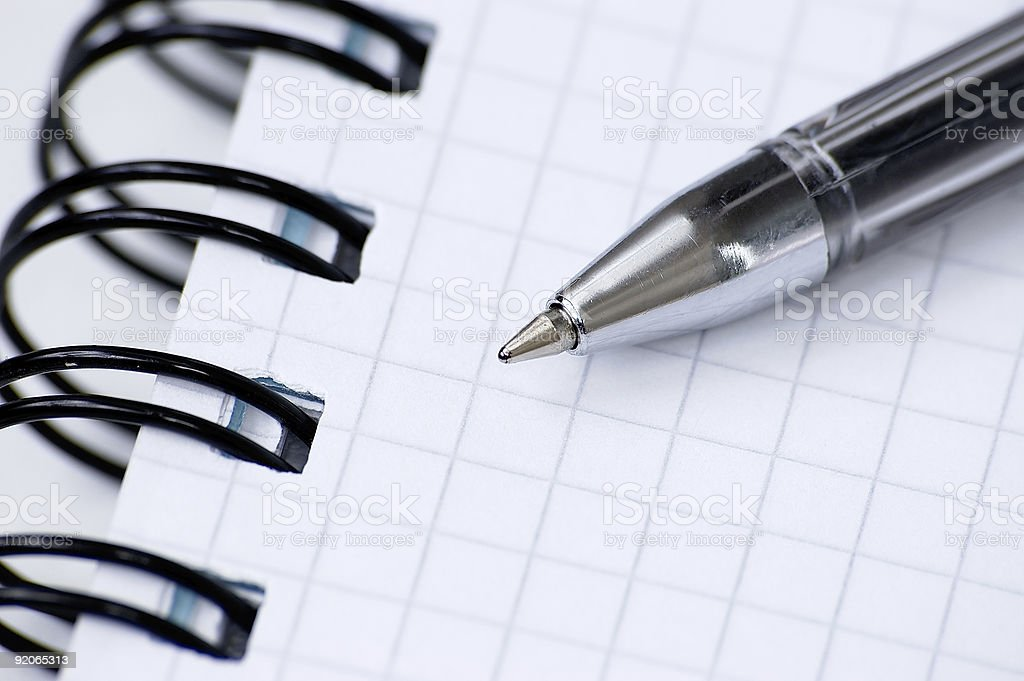Still-life with a notebook. royalty-free stock photo
