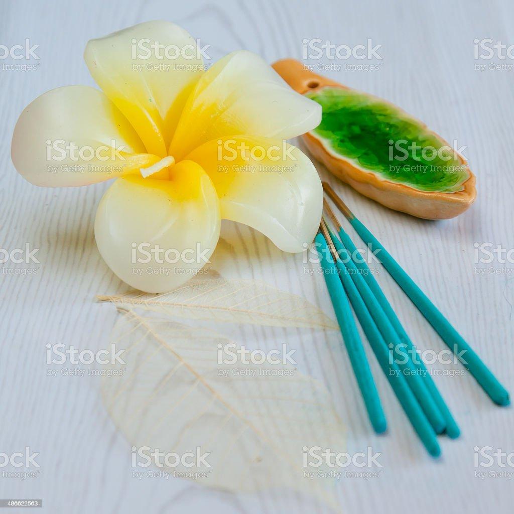Still-life with aroma sticks royalty-free stock photo