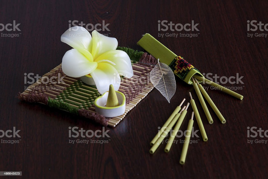 Still-life with aroma sticks royalty-free stock photo