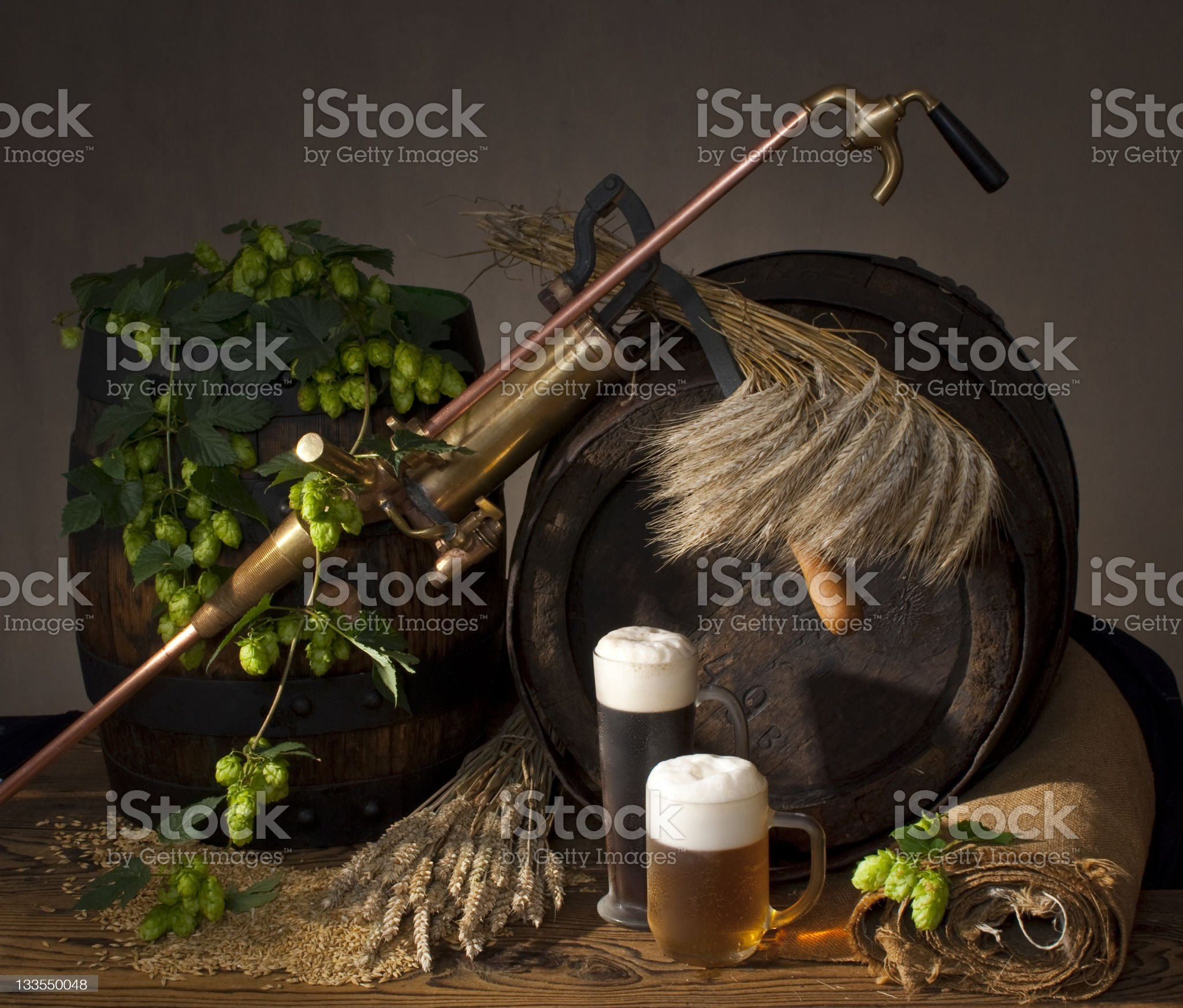 still-life with beer royalty-free stock photo
