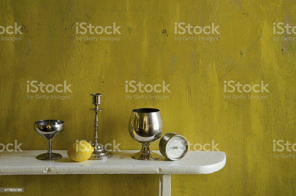 still-life with lemon royalty-free stock photo
