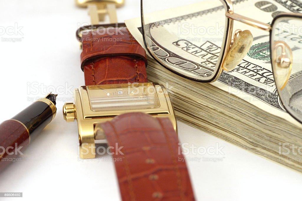 Still-life with money royalty-free stock photo