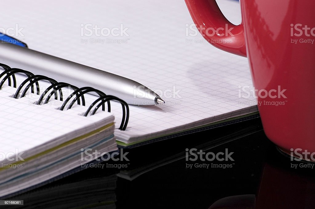 Still-life with notebook. royalty-free stock photo