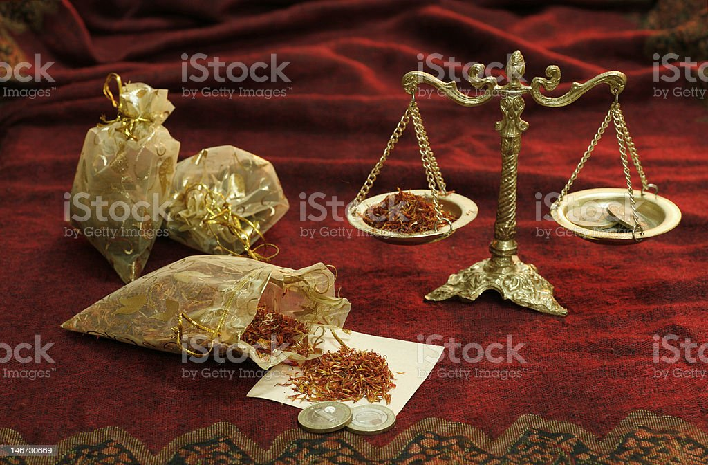 Still-life with spices stock photo